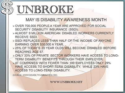 Get UNBROKE - Disability Insurance Awareness Month