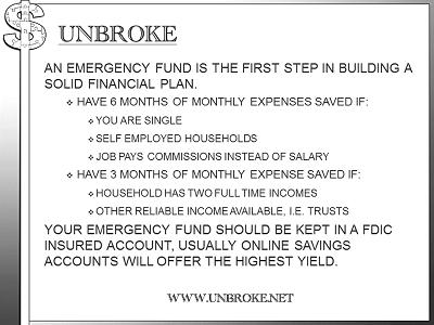 Get UNBROKE - Emergency Fund