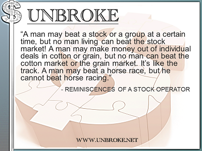 Learning from legends - No man can beat the market - Rem. of a Stock Operator
