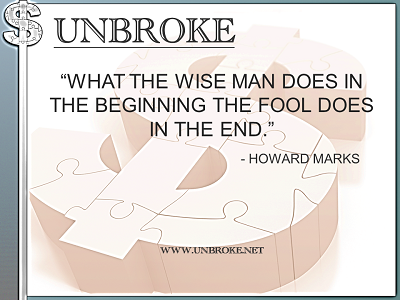 Learning from legends - What the wise man does - Howard Marks