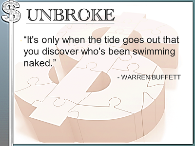 UNBROKE Instagram Post - Learning from legends - Tide Goes Out Swimming Naked - Warren Buffett