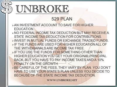 Get UNBROKE - 529 Plans