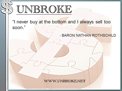 Learning from legends - Never buy at bottom always sell too soon - B Nathan Rothschild