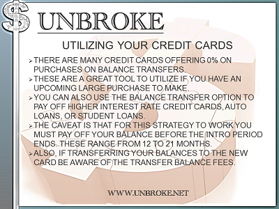Get UNBROKE - How to utilize 0% credit cards