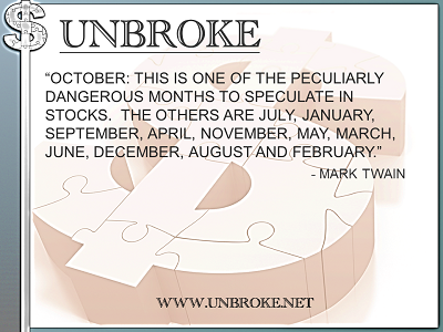 Learning from legends - Dangerous Months to Speculate on Stocks - Mark Twain