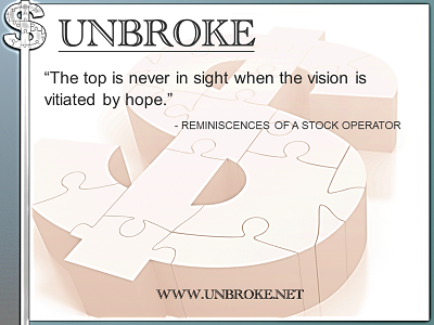 Learning from legends - top vitiated by hope - Rem. of a Stock Operator