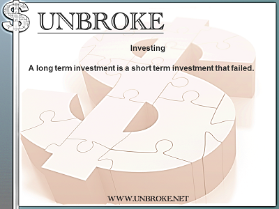 Financial Funnies - Investing - Long term investment is failed short term investment