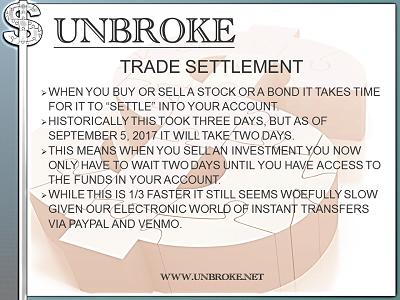 Get UNBROKE - Trade Settlement