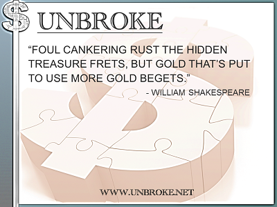 Learning from legends - Gold Begets Gold - William Shakespeare
