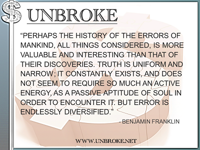 Learning from legends - History of Errors of Mankind - Ben Franklin