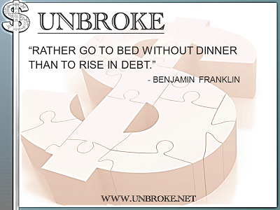 Learning from legends - rather go to bed without dinner - benjamin franklin