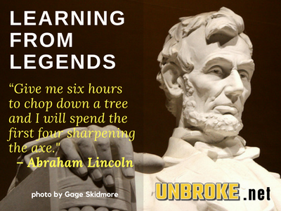 Abraham Lincoln axe quote infographic
