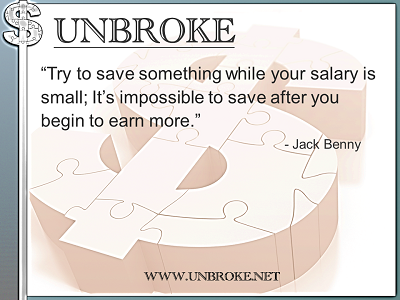 Financial Funnies - Jack Benny - Save when salary is small