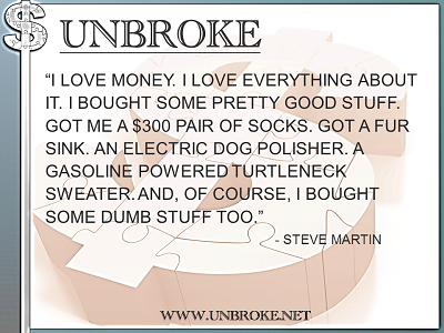 Financial Funnies - Steve Martin - Bough Some Dumb Stuff Too