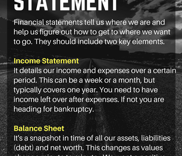 Create Your Personal Financial Statement… Get UNBROKE Infographic