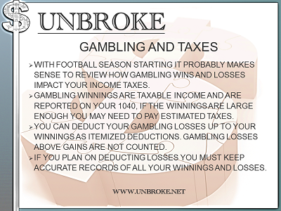 Get UNBROKE - Gambling and Taxes