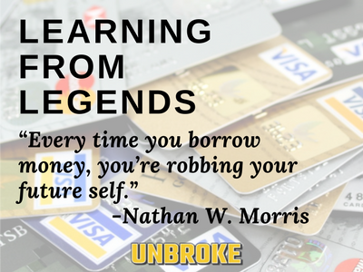 Before Taking on Debt, Consider Your Future Self... Learning from Legends, Nathan Morris