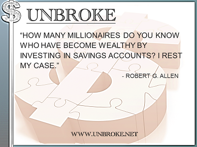 Learning from legends - How many millionairs from savings accounts- Robert G. Allen