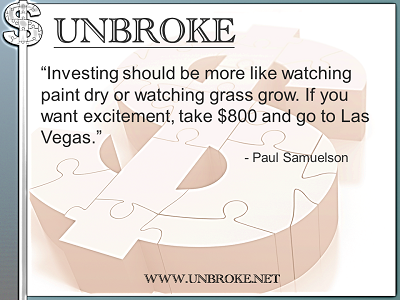 Learning from legends - Investing should be like watching paint dry- Paul Samuelson
