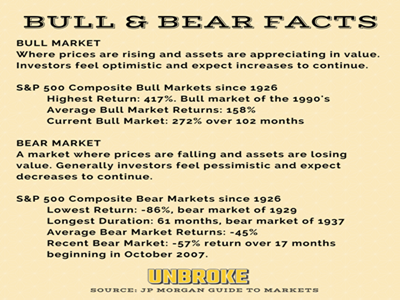 Bull and Bear Market Historic Facts [infographic]